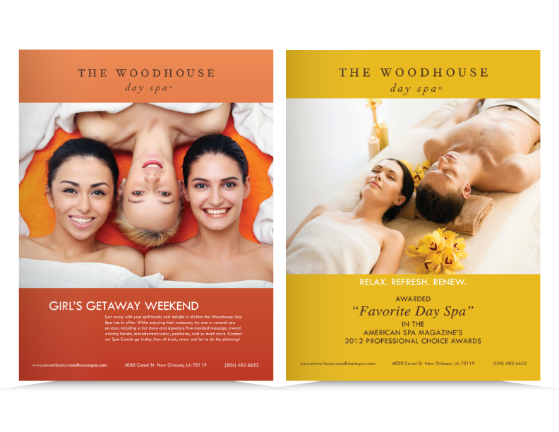 Print Ad for The Woodhouse Spa, Seven Men's Magazine