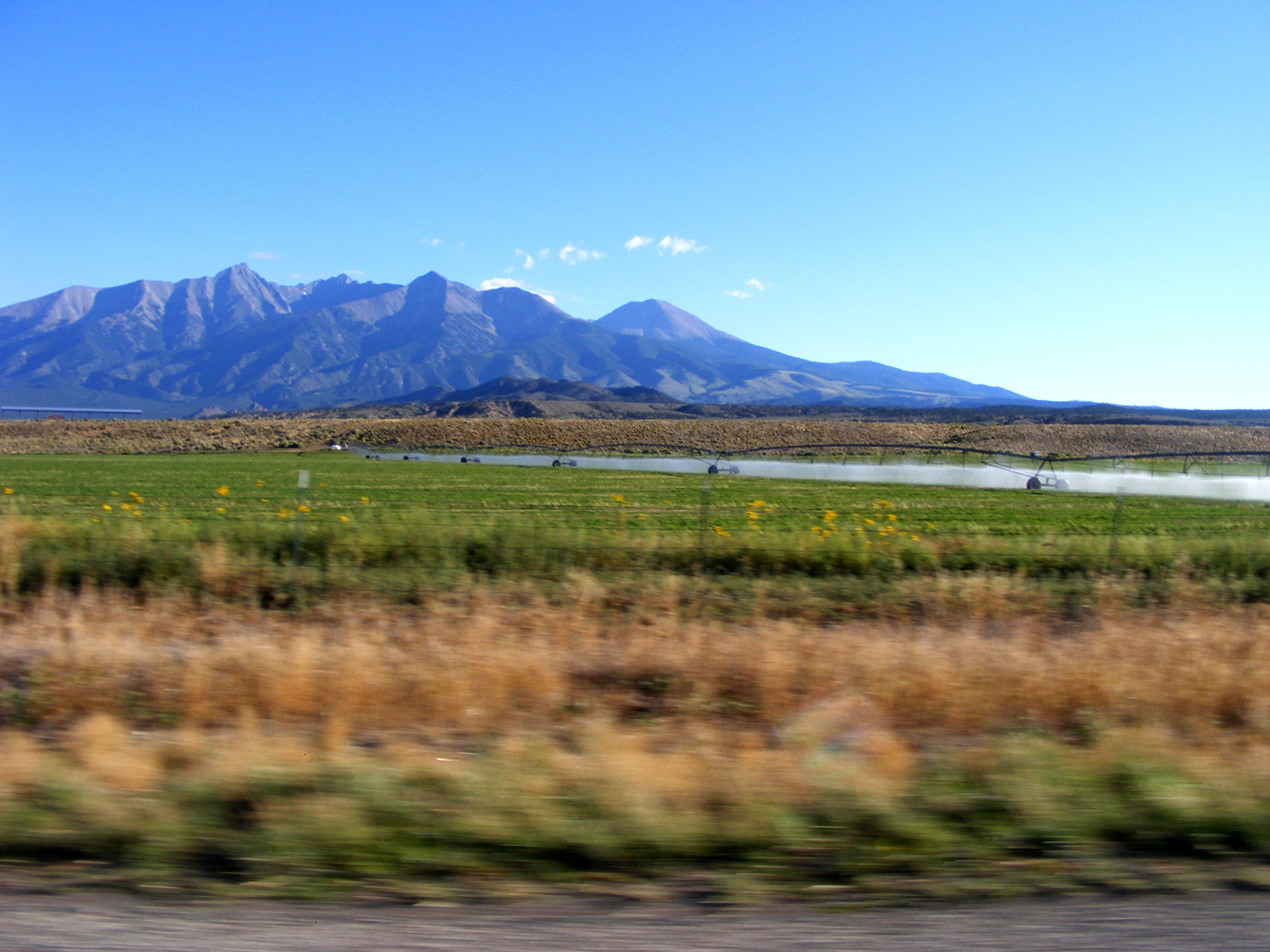 // Approaching the Rockies from Kansas