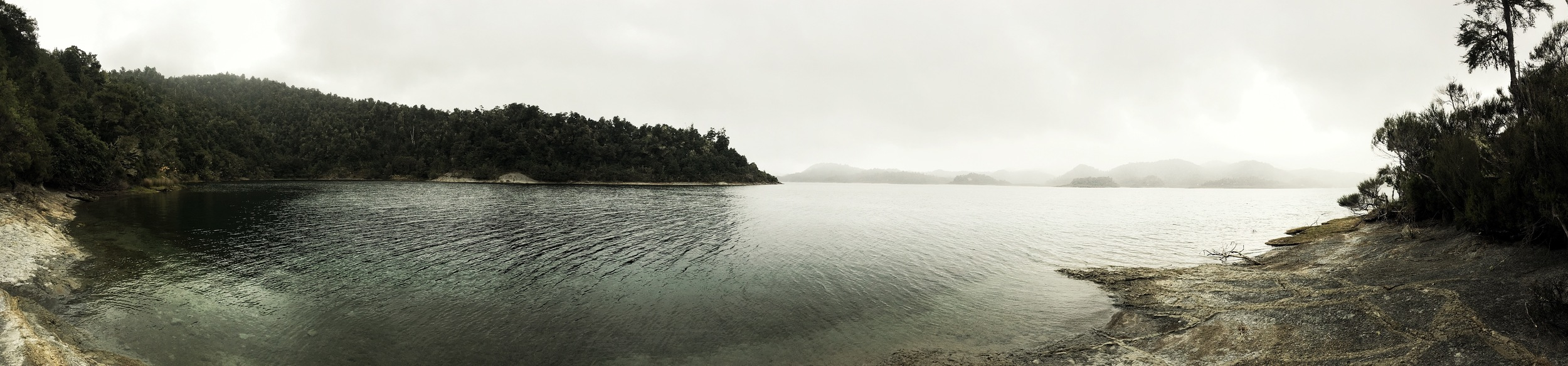 // View of the lake before arriving at our campsite