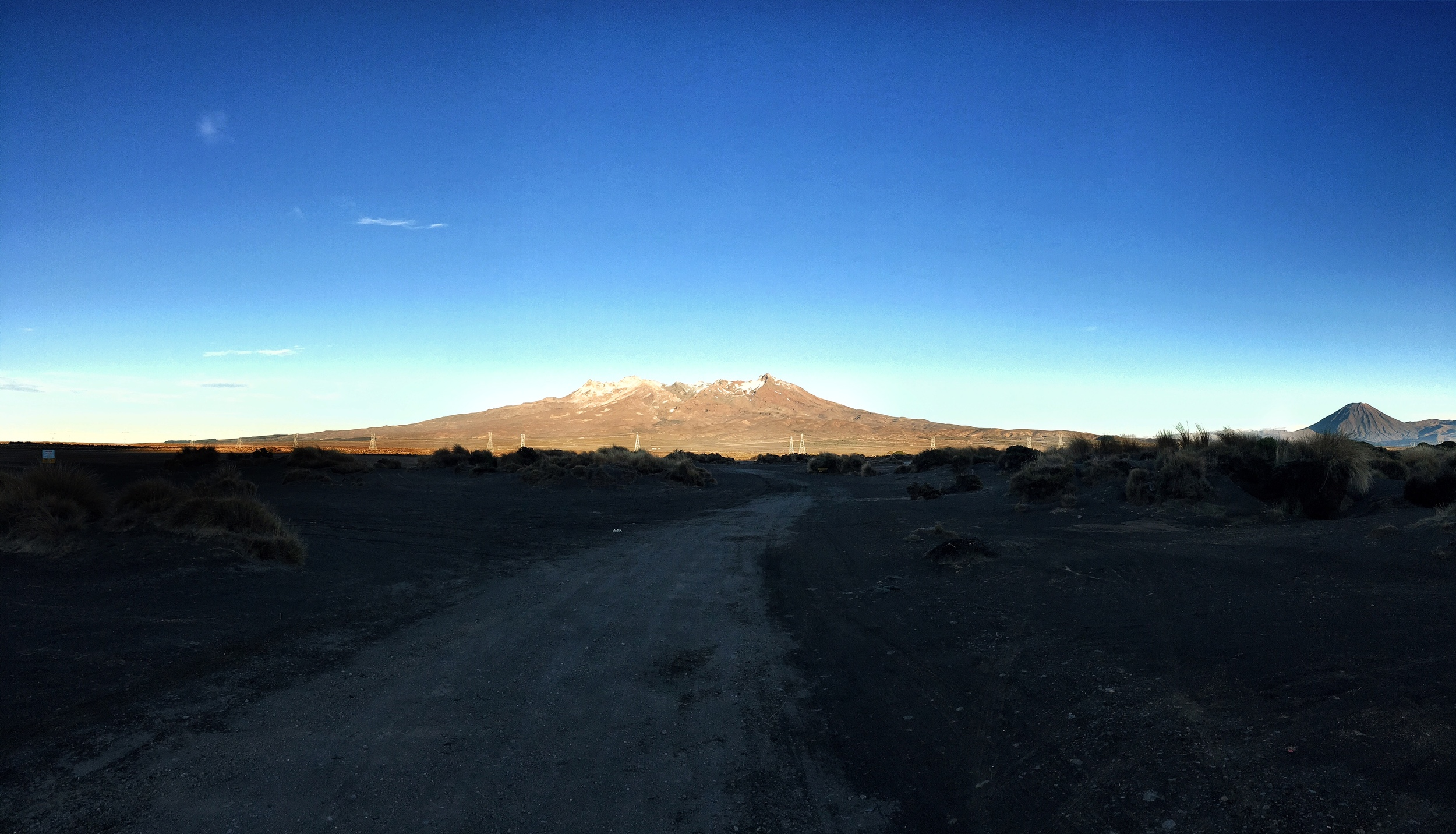 // Tongariro National Park at sunrise