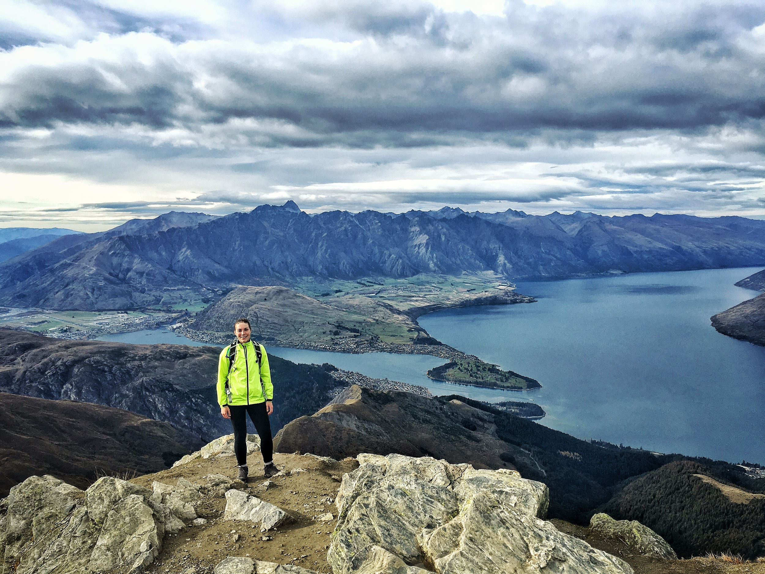 // Summit, with a view South toward Queenstown + Lake Wakatipu