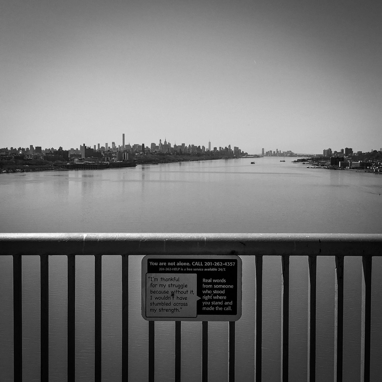 // Crossing over the George Washington Bridge