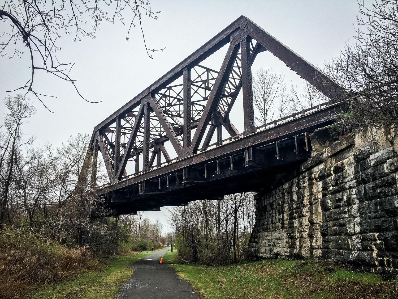 // Abandoned Rail Line along the Trail