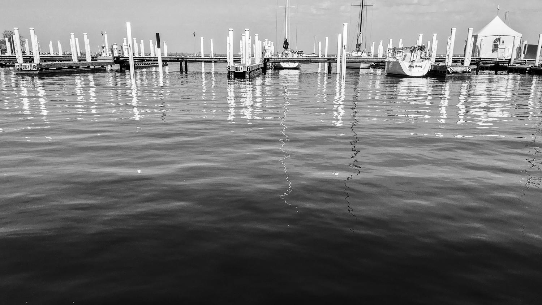 // Relaxing by Lake Michigan