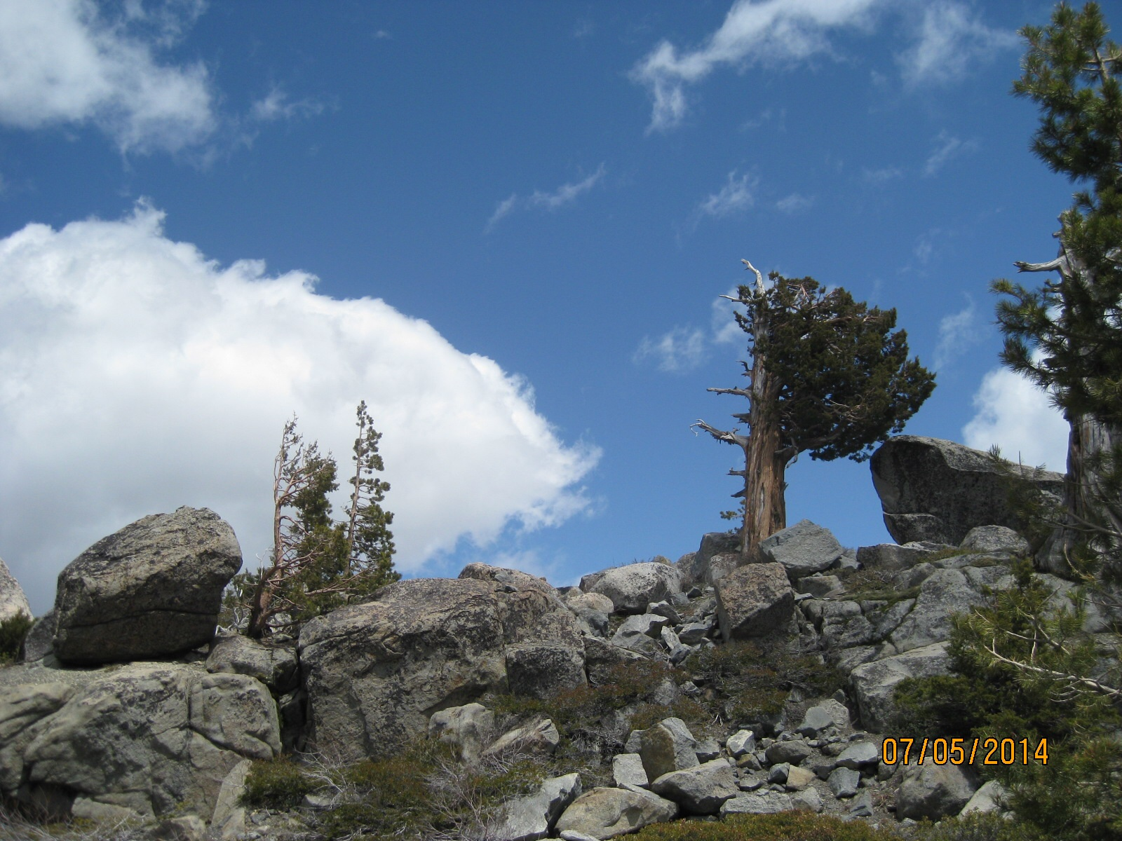 Near the peak.