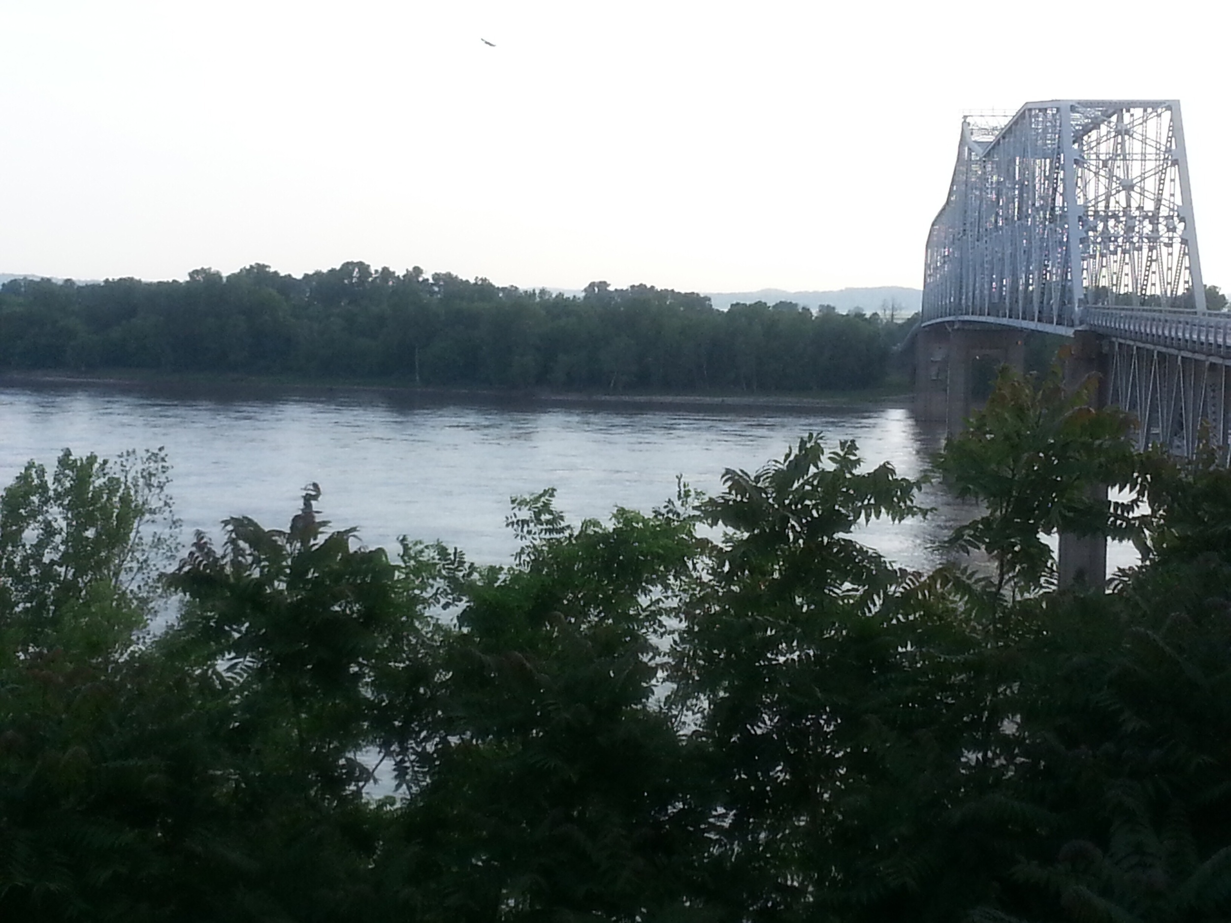 The mighty Mississippi.  I crossed over the bridge instead of rafting.