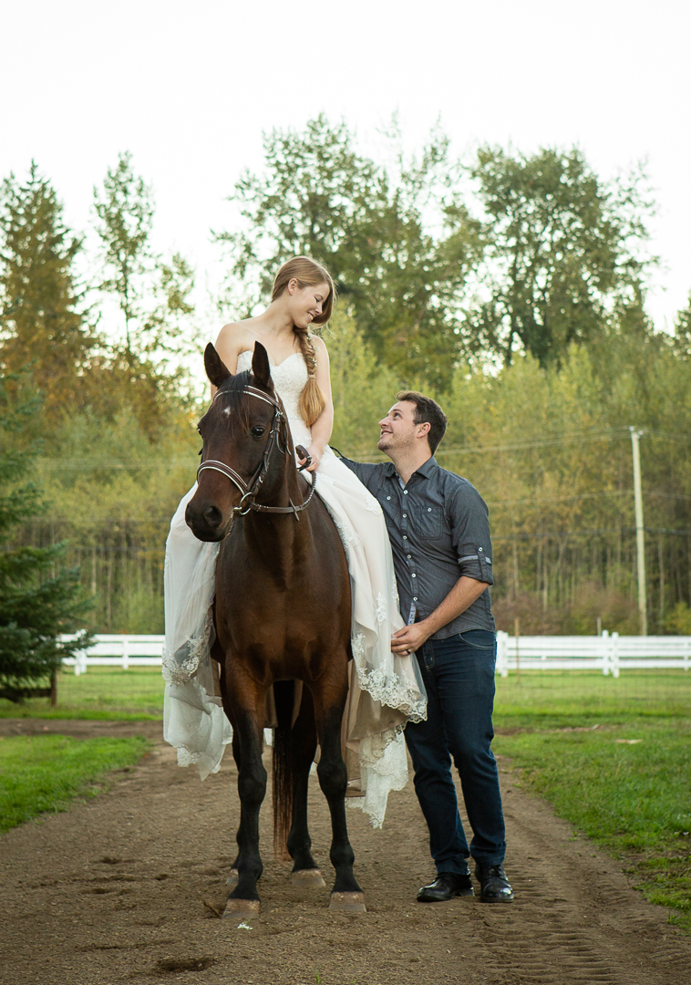 horse and couple