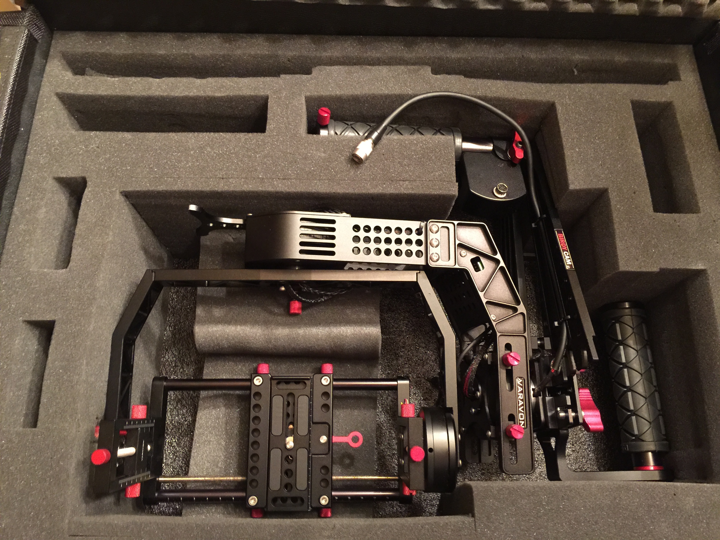 Folded up and ready to go; and I can mount the Atomos Shogun to get 4k from the Sony A7S on it. Very nice.