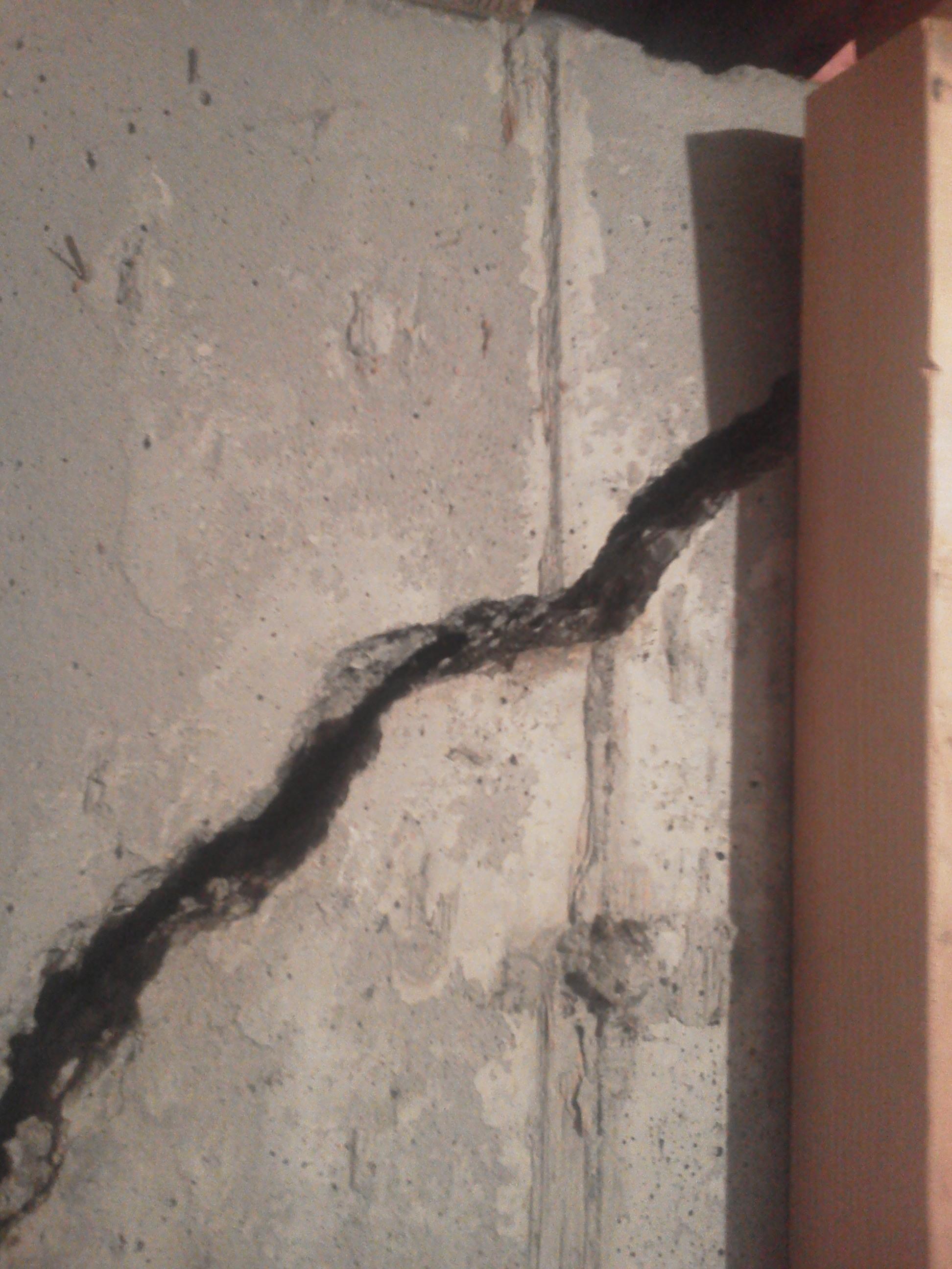 Wall pull crack repair BEFORE