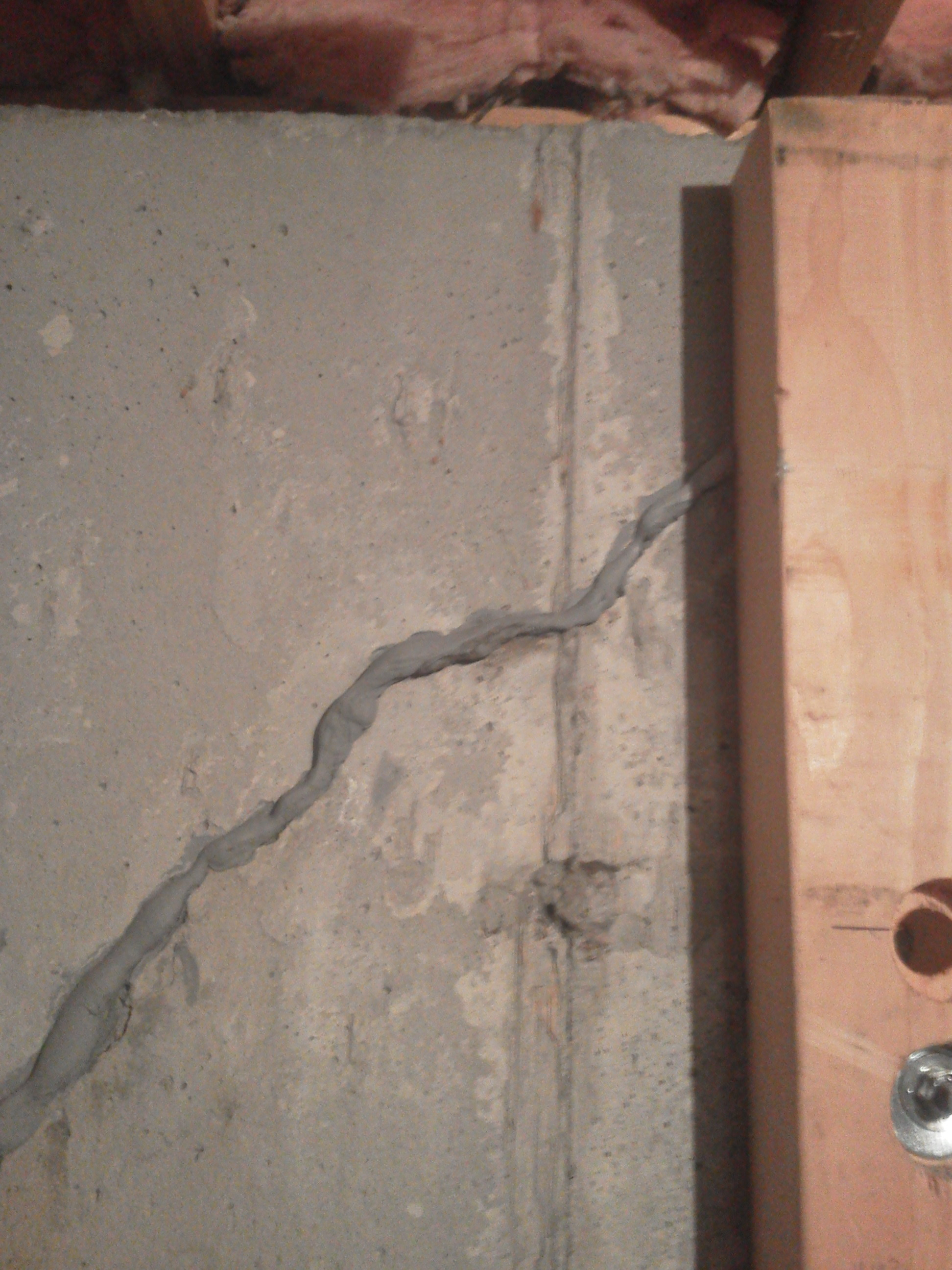 Wall pull crack repair AFTER