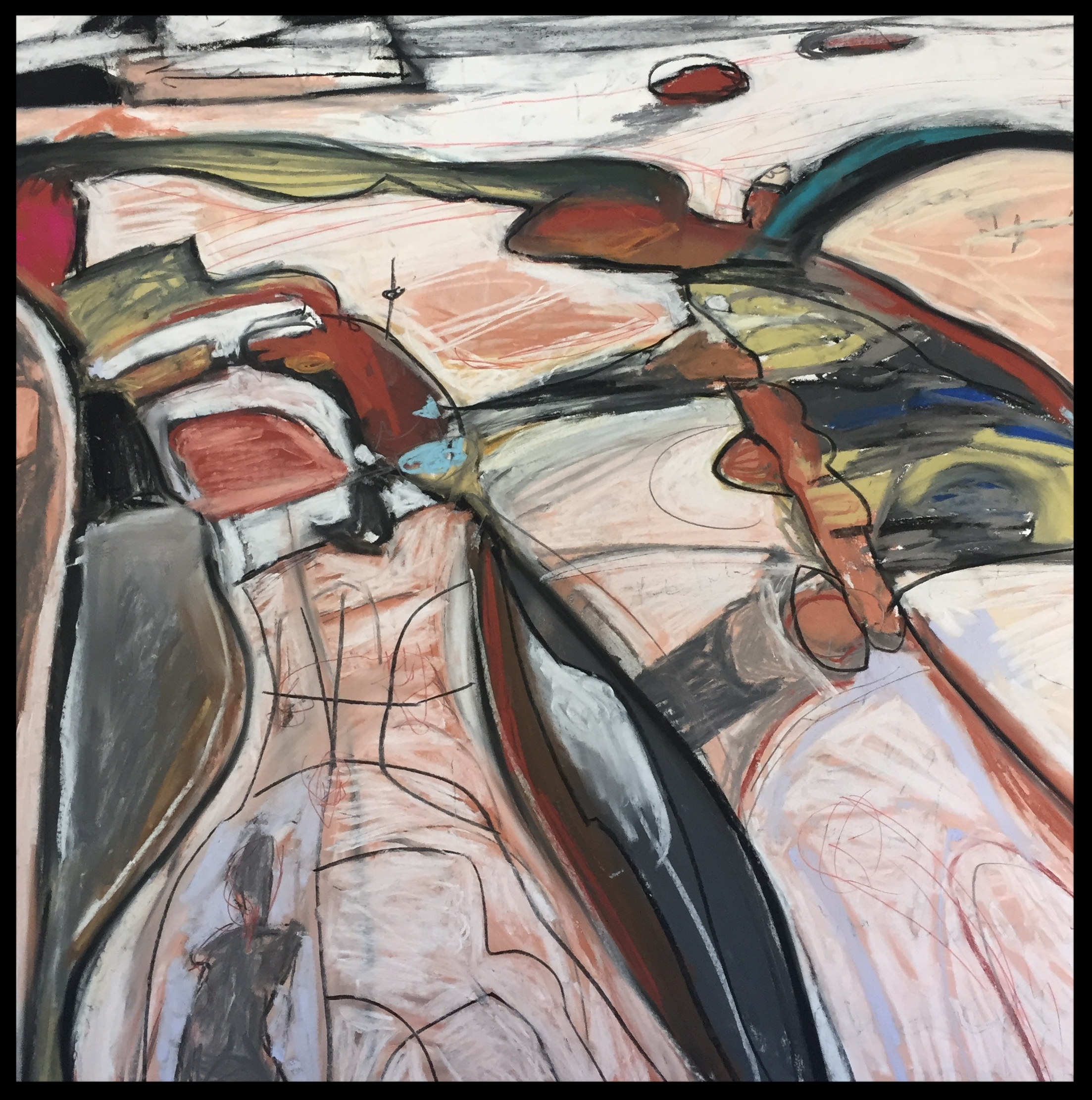 """Post Factual No. 1 (Rill Creek) - 22"""" wide x 22"""" high - 2016  (details)   Not For Sale"""