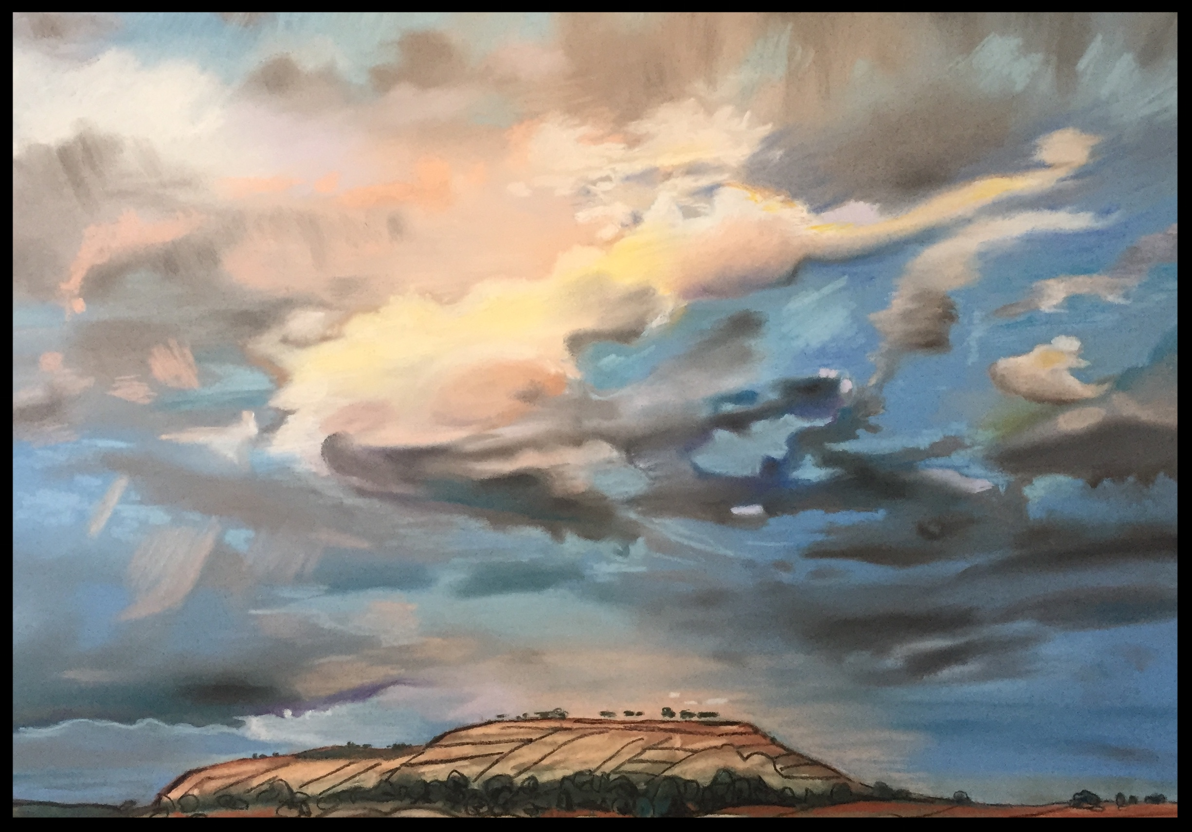 """Thus, We Walk  - 21.5"""" wide x 15.5"""" high - 2016   -Available for Purchase-"""