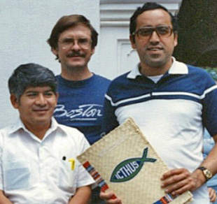Gilo Mendez, Don Weisbrod, Leonel Ramos, líderes quienes desarrollaron los primeros manuales y el himno Icthus.