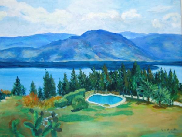 Vista del lago amatitlan en guatemala desde el campamento cristiano monte sion - la vista donde enIcio' la chispa de icthus.