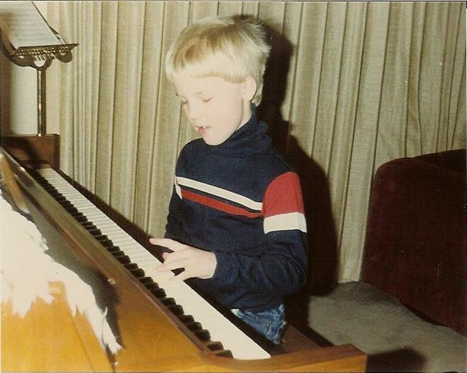 Geoff playing the Piano