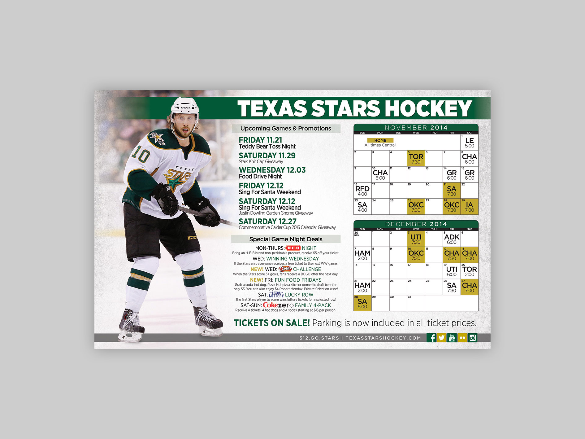 All Over Media poster, distributed to display upcoming games and promotions.
