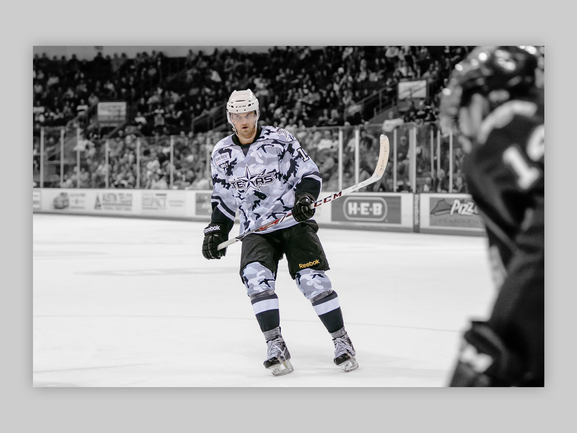 Military Appreciation Weekend specialty jersey, featuring black and white camouflage.