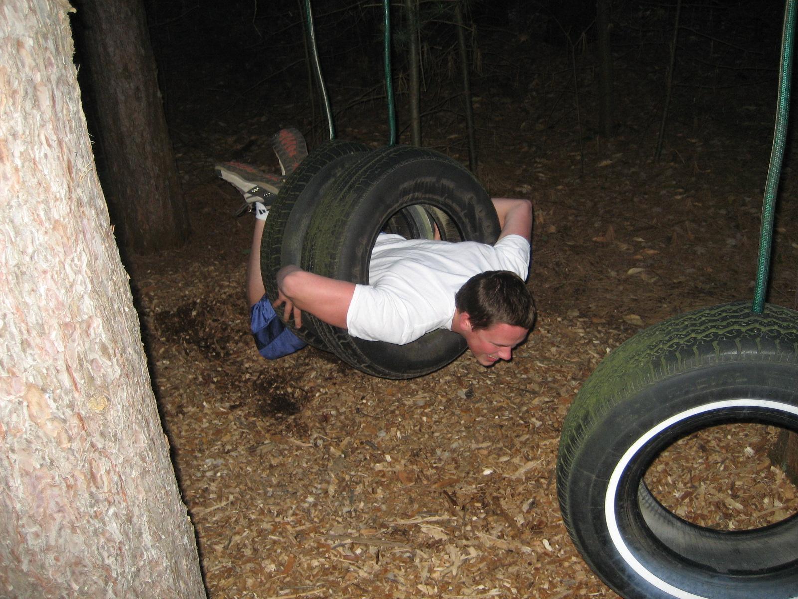 Tire Swing Lava Pit