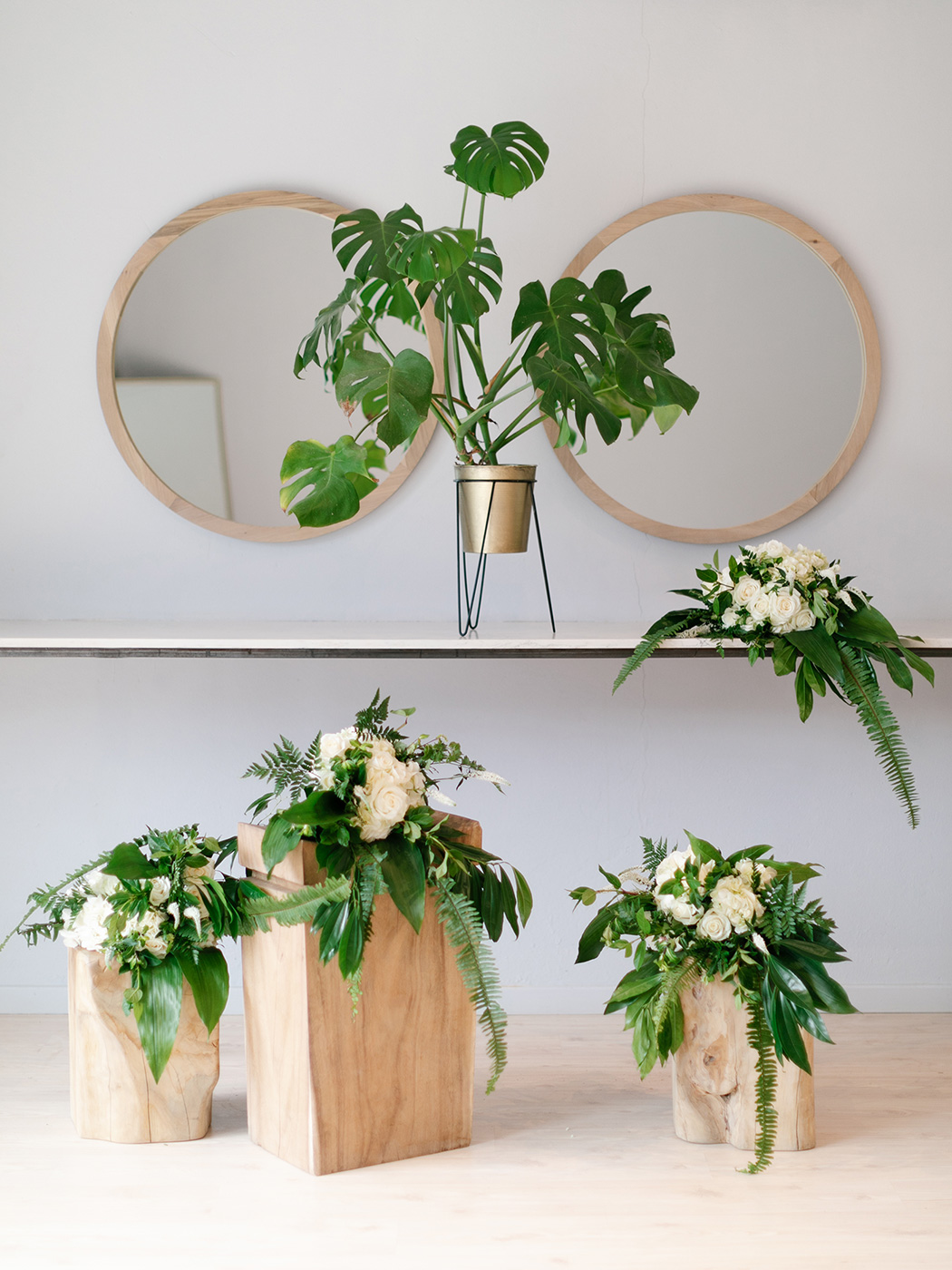 Green & White Wedding Bouquet | Rensche Mari