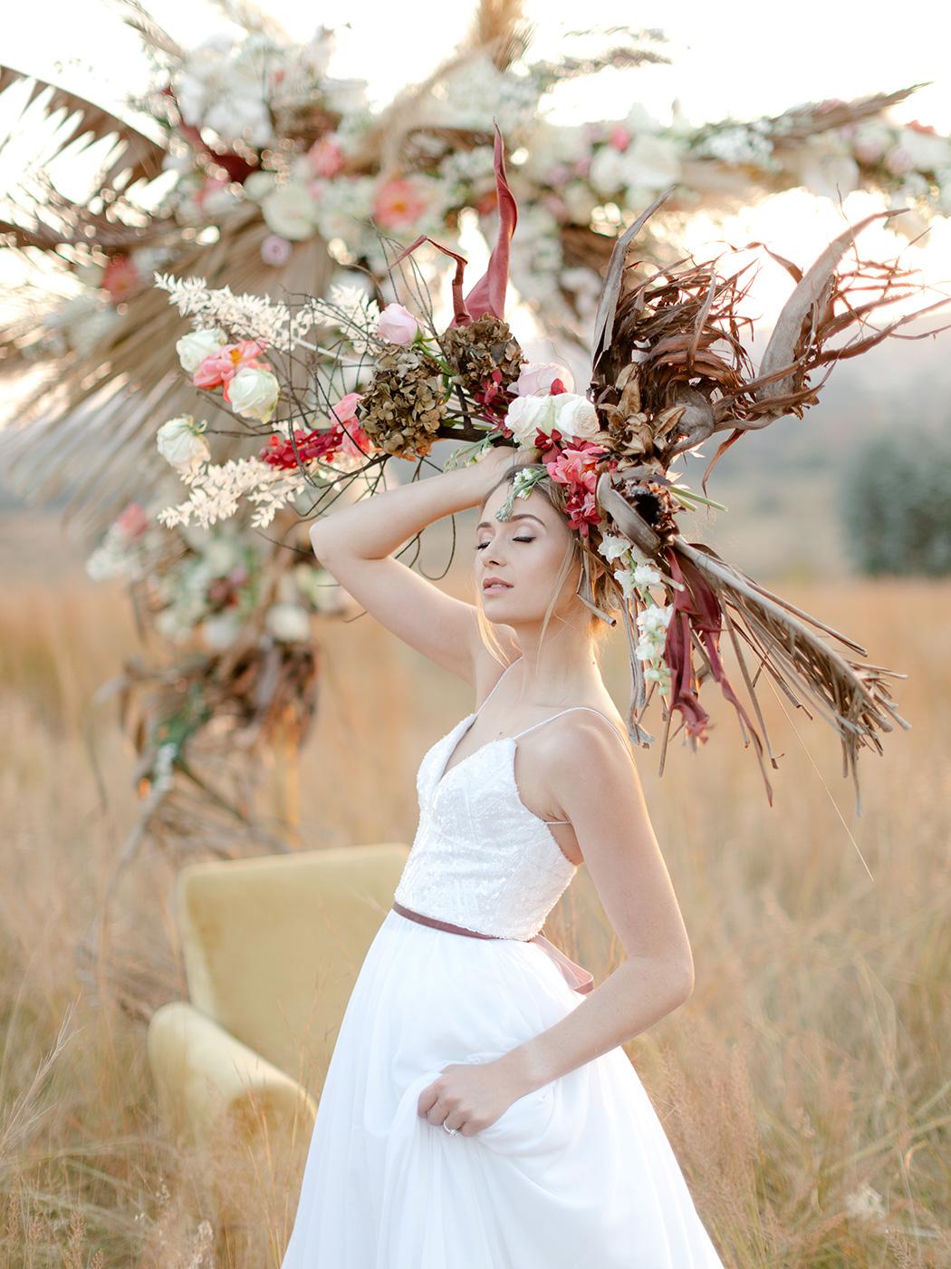 Floral Headpiece | Zavion Kotze Events | Rensche Mari