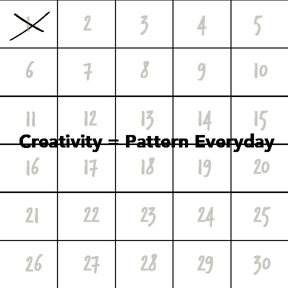 Creativity = Pattern Everyday | HeatherRoth.com/blog