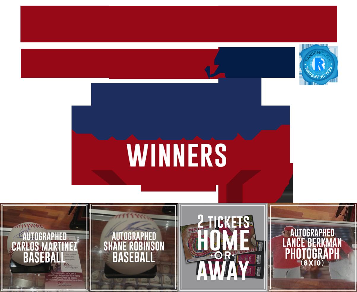Congratulations Week 4 Winners