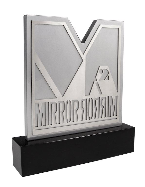 Mirror-Mirror Metal Plaque
