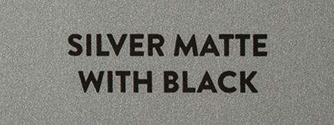 Rigid metal engraving plate. Can cover large areas of two-tone color.