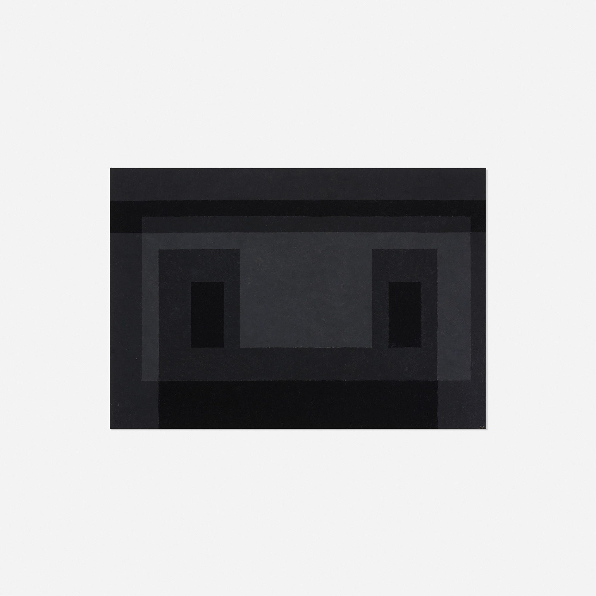 Dark by Josef Albers. Image courtesy of Wright Auctions.
