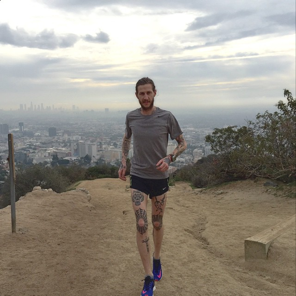 Jesse running Runyon Canyon in Hollywood. [Jan. 10th, 2015]