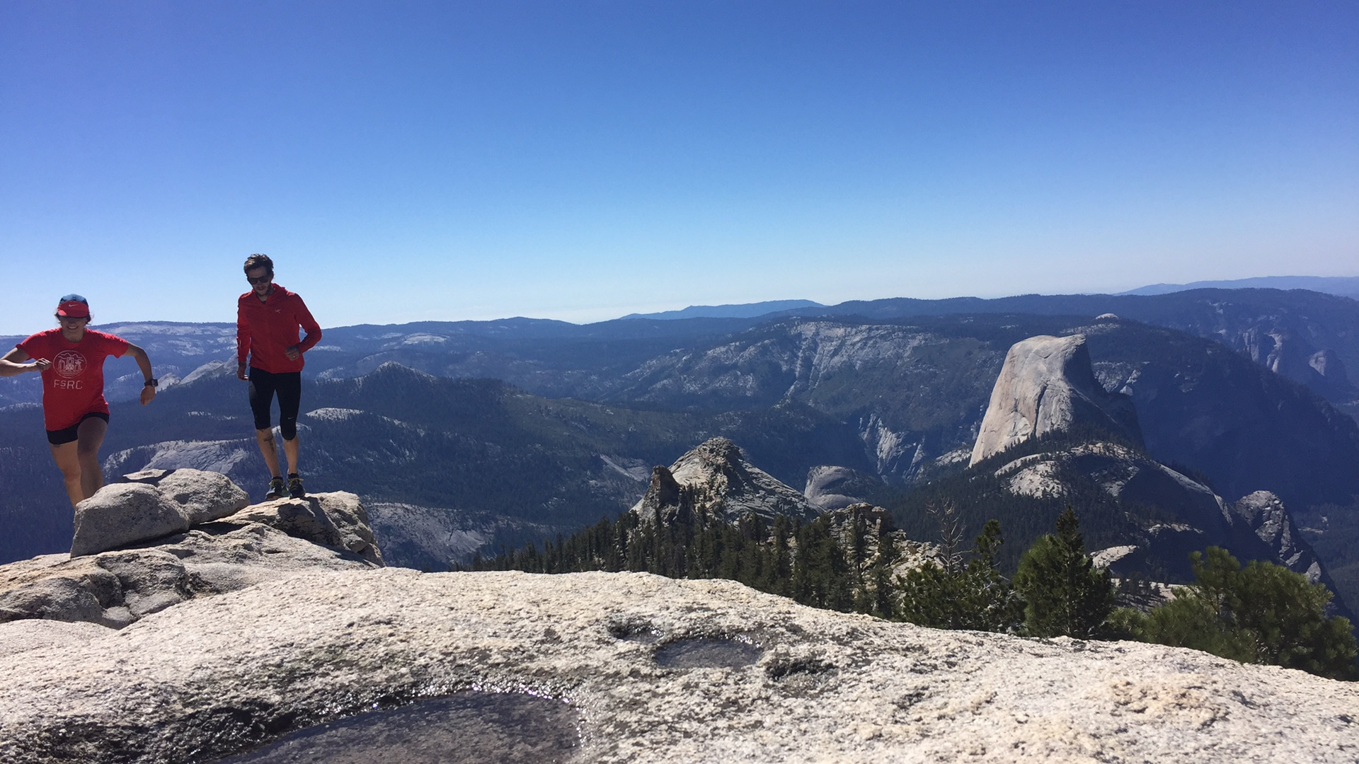 [ The summit of Clouds Rest w/ view of Half Dome ]