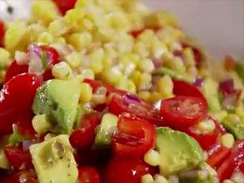 Hannah: Few things taste better with ribs or BBQ than a good summer corn & avocado salad! I especially like this Ina Garten's recipe
