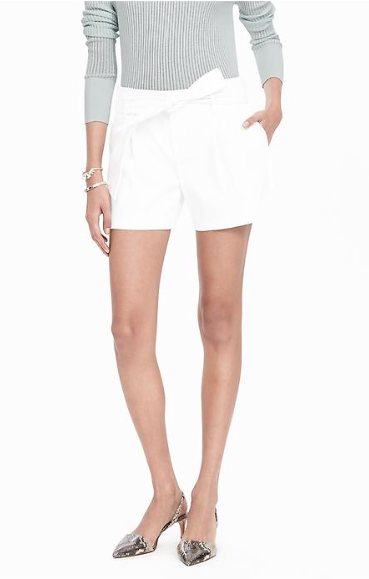 Catherine: I love these shorts from banana republic because the pockets and top of the shorts are scalloped and there's a cute tie at the top. They come in a few colors but I think the white is perfect for   4th of July  festivities.