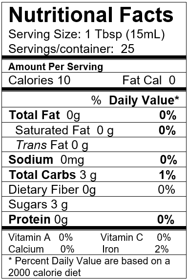 Alfoos Mango White Balsamic Nutrition Info