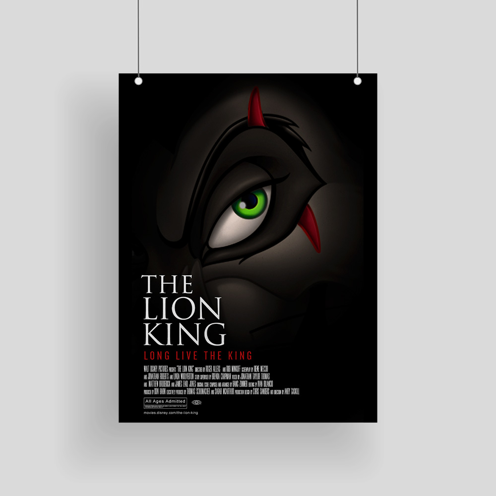 Re-Imagined Lion King Poster for a Disney.com blog post