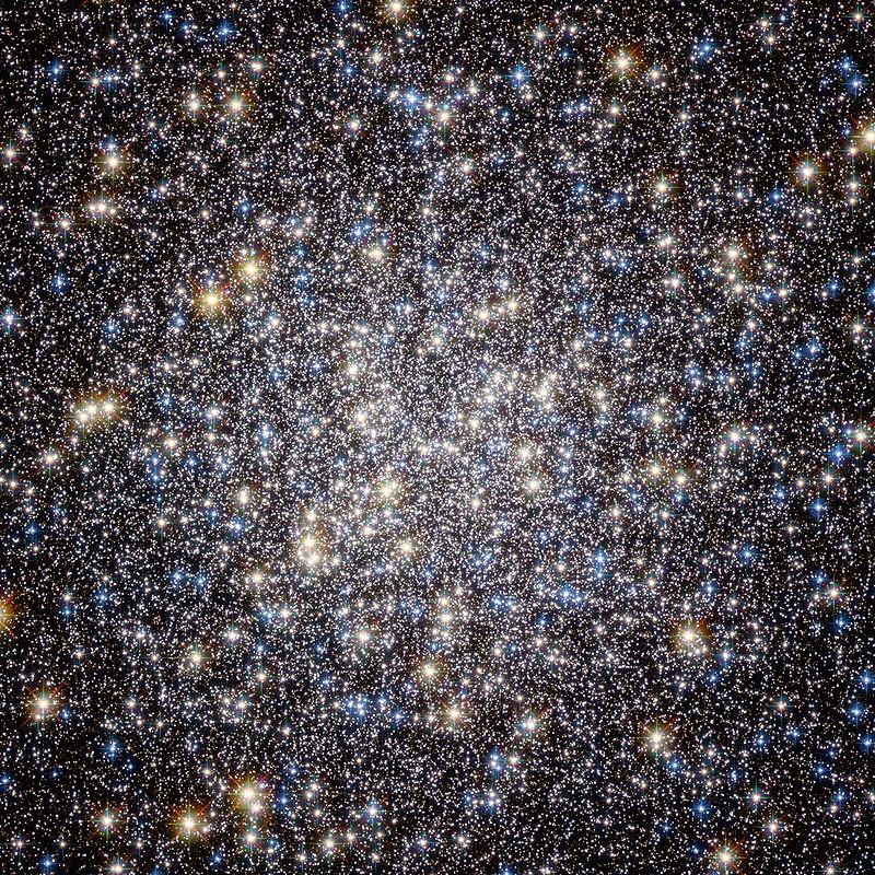 Heart of M13.   ESA/Hubble and NASA via Wikipedia