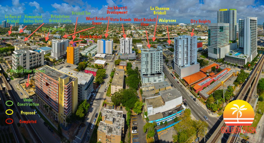 List of projects under construction, proposed and recently completed in West Brickell