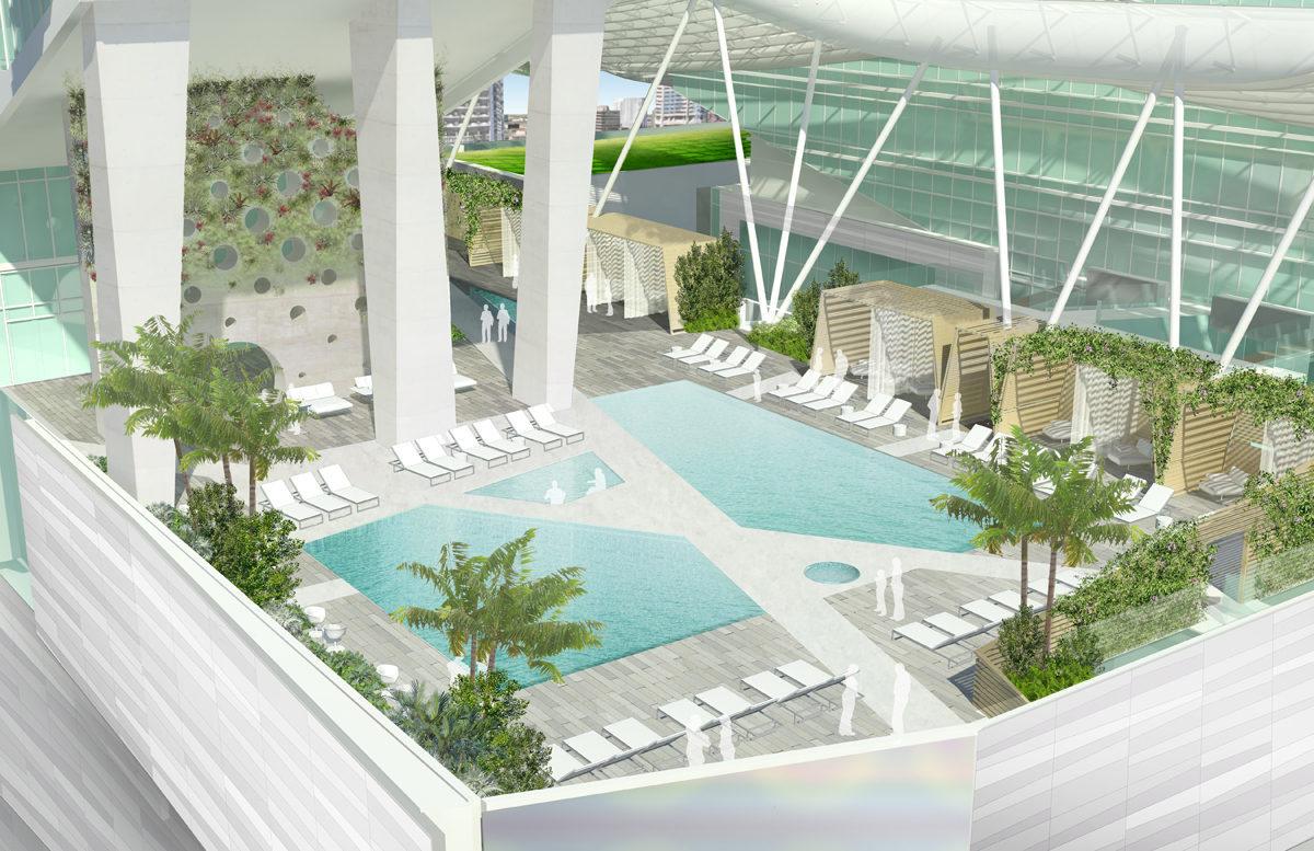 Hotel East Pool Rendering