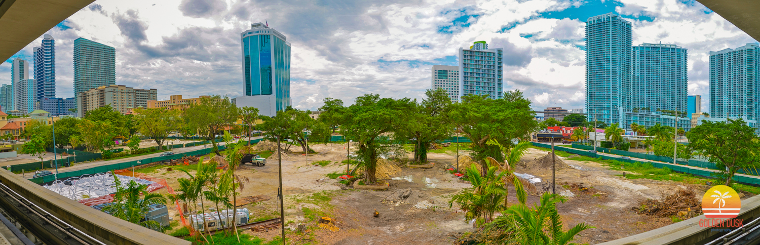 May 2012  - They are beginning to remove the trees from the land and move them to Museum Park. They have started the freezing process to be able to dig underground. Construction has not yet started at NINE at Mary Brickell Village or 1100 Millecento.
