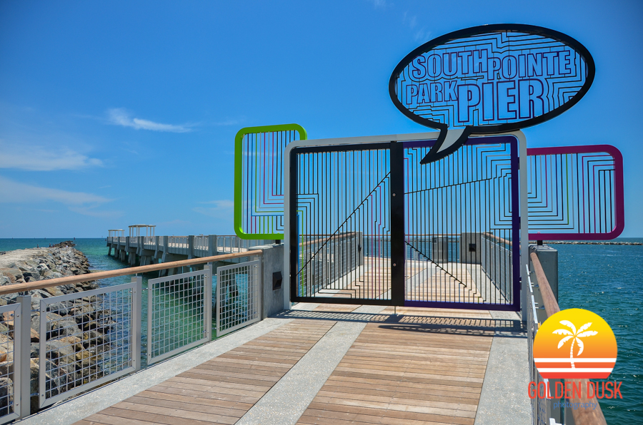 Entrance to South Pointe Park Pier