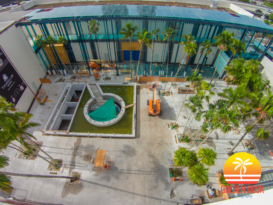 Palm Court Under Construction In The Design District
