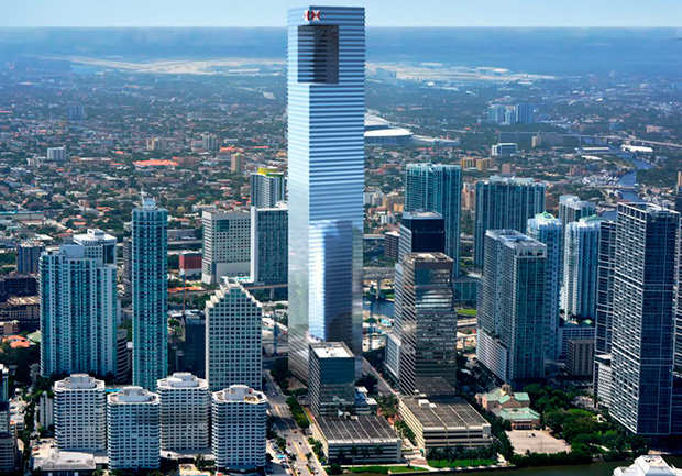 Rendering Of One Brickell City Centre In Miami