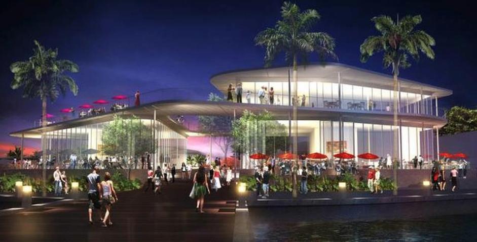 Coconut Grove Marina Waterfront Rendering