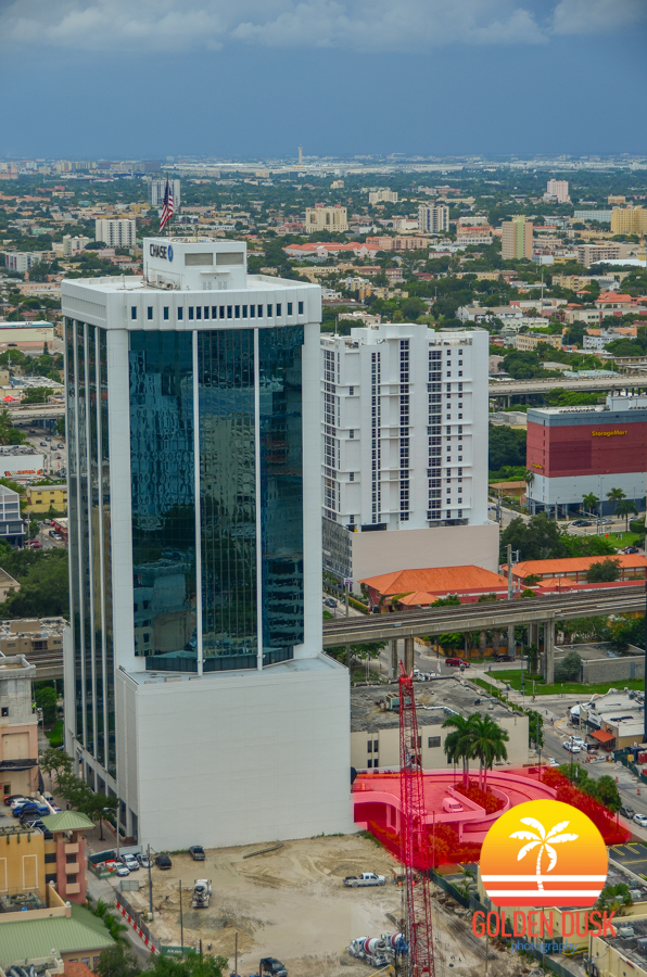 Site of Brickell Bayview Center In Red