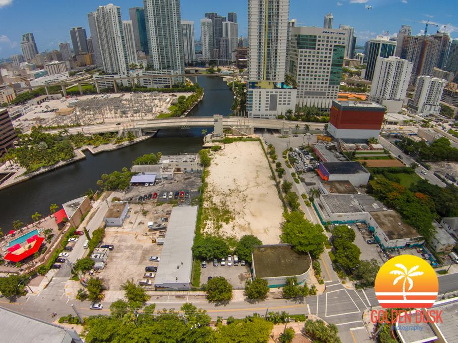 Overview of Miami Riverwalk Site In Brickell
