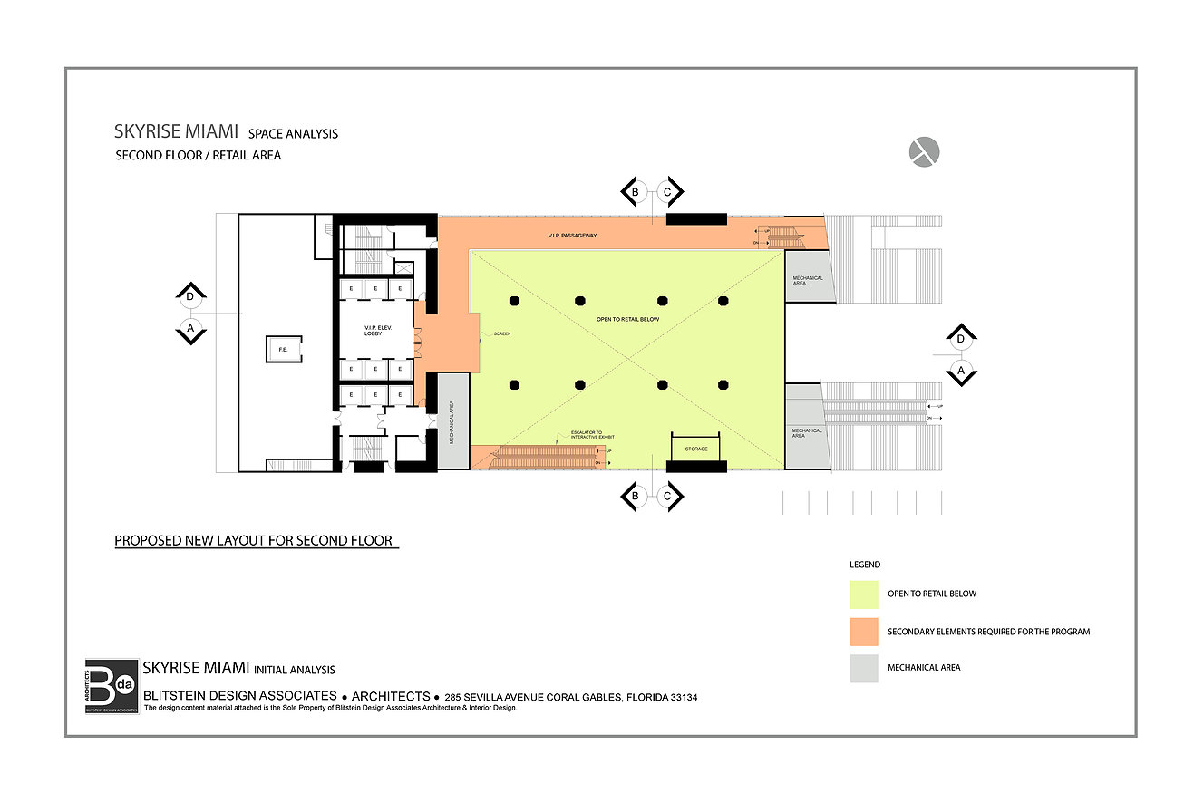 SkyRise Miami Lobby Floorplan