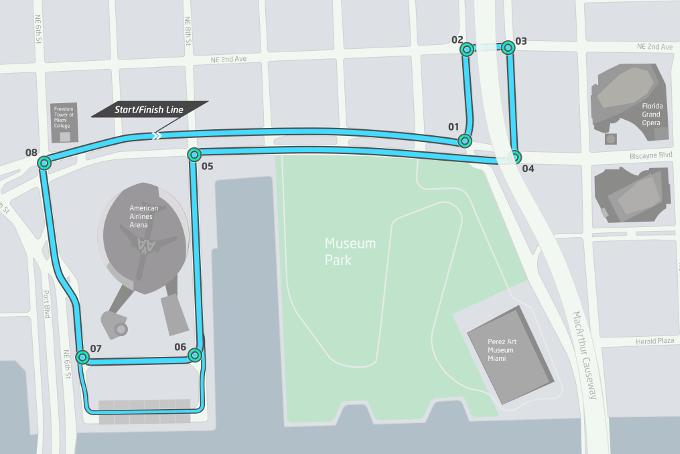 Course Track in Downtown Miami