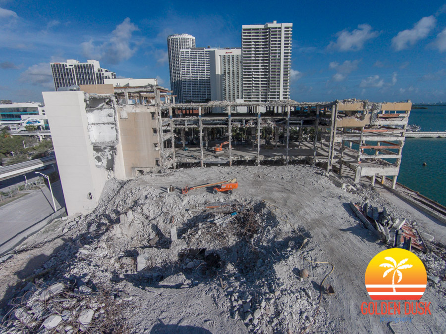 Miami Herald Building Being Demolished