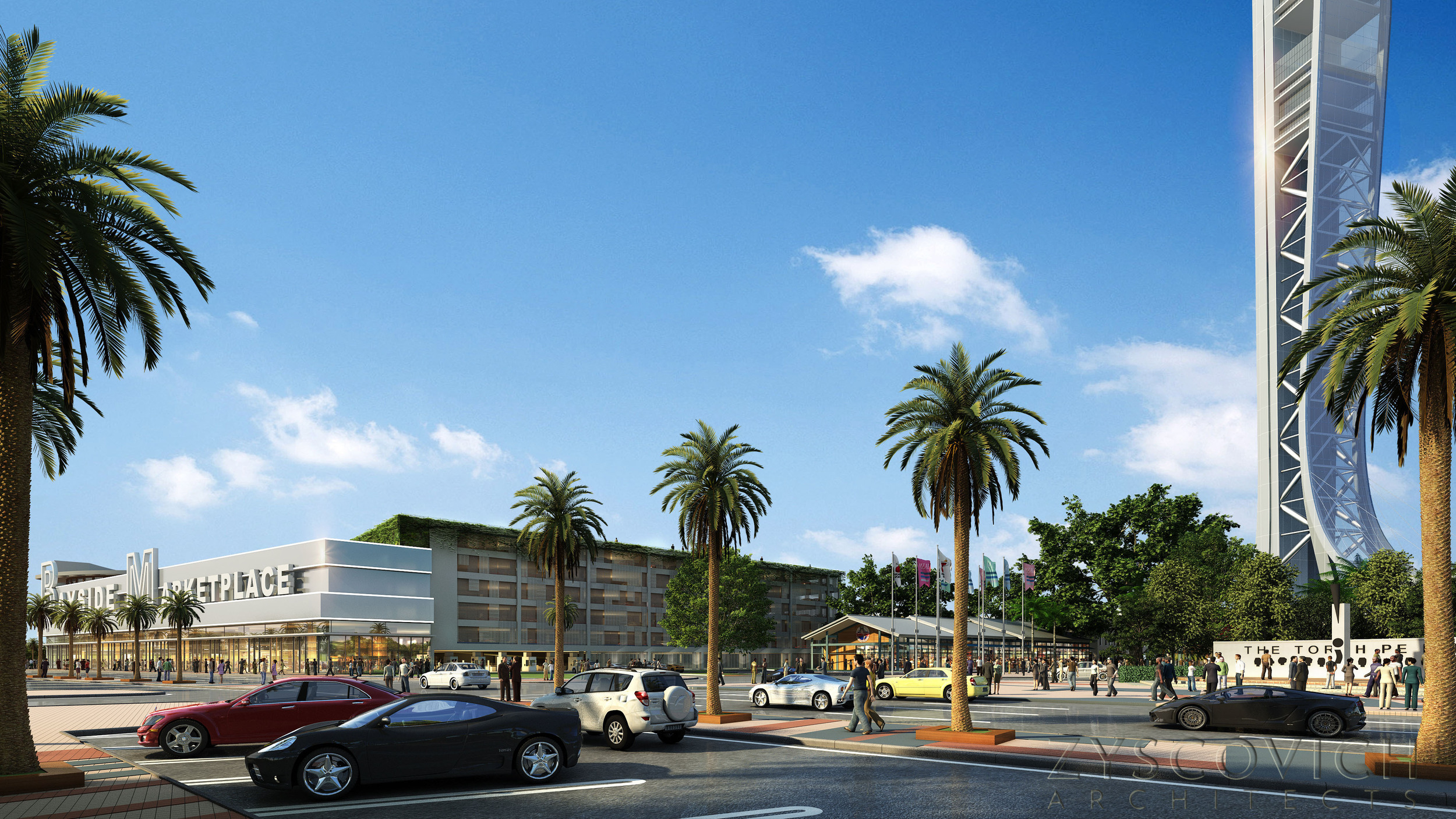 Redesign of Bayside Marketplace (Image via Zyscovich Architects)