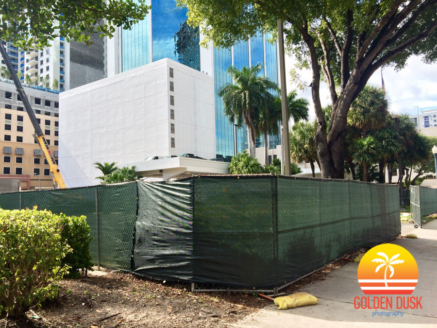 Fencing Around Brickell Bayview Center